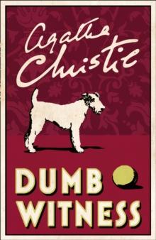 POIROT - DUMB WITNESS -  Agatha Christie - 9780008129569